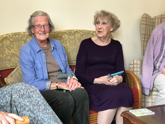 Our residents enjoy catching up on the latest news