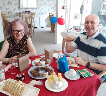Residents enjoying afternoon tea