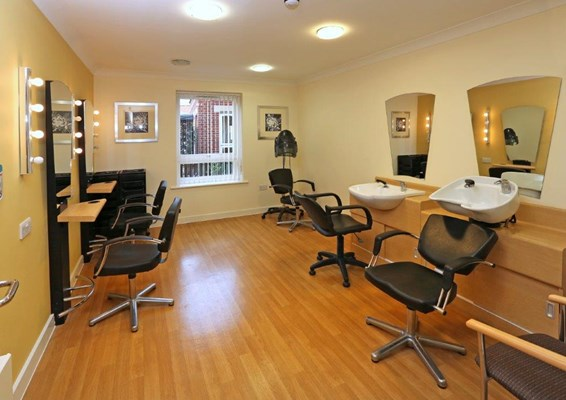 Hairdressing room where residents can enjoy some pampering at Great Bradfords House