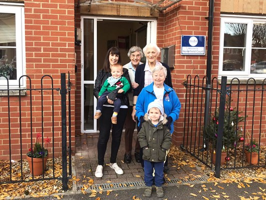 Family visits at Northfield Court
