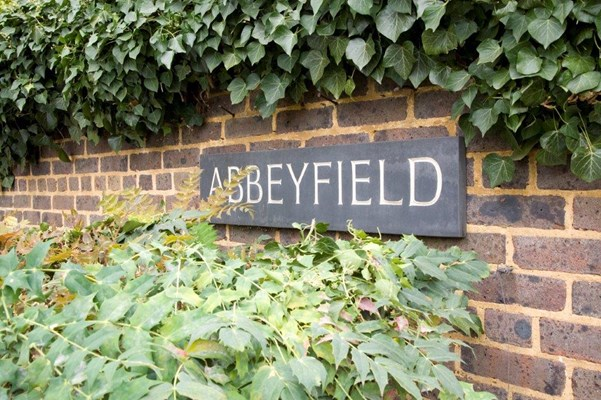 Abbeyfield sign outside Victoria House