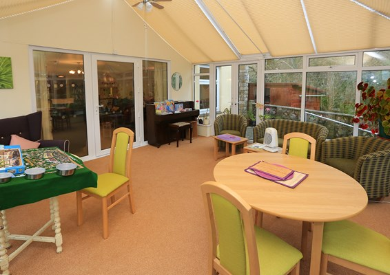 Make new friends in our communal conservatory