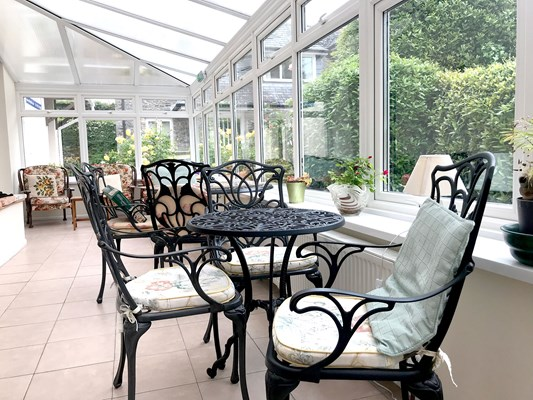 Watch the wildlife in the garden from the conservatory