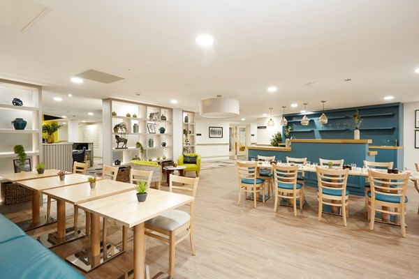 Modern, bright and spacious restaurants for residents to use at their leisure at Nonsuch Abbeyfield