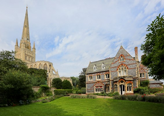 Abbeyfield House, Norwich, a beautiful Grade II listed home located in the grounds of Norwich Cathedral