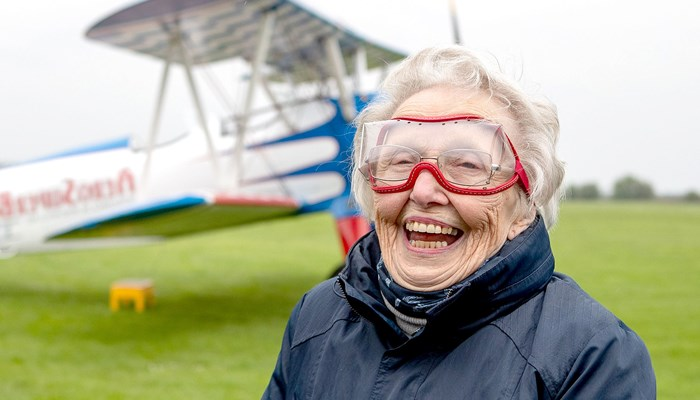 Thrill-seeker Betty helps fundraise for a summer house