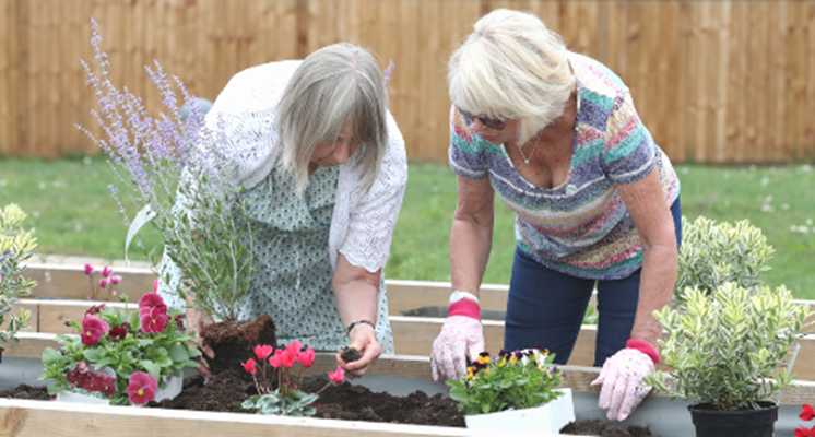 Residents love to help with the garden