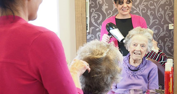 Our hair salon is open to residents for their regular hair cut or for whenever they feel like a bit of pampering
