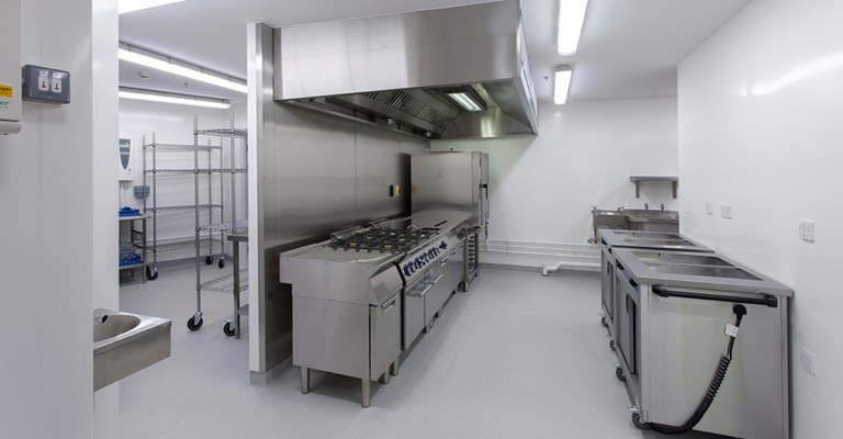 The catering kitchen at Winnersh