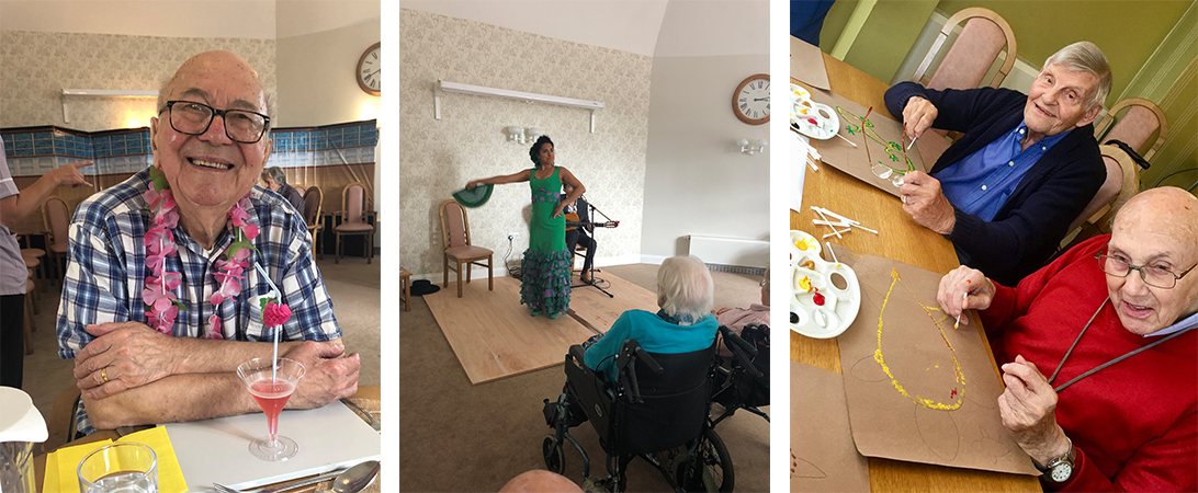 around the world activity at westall house care home