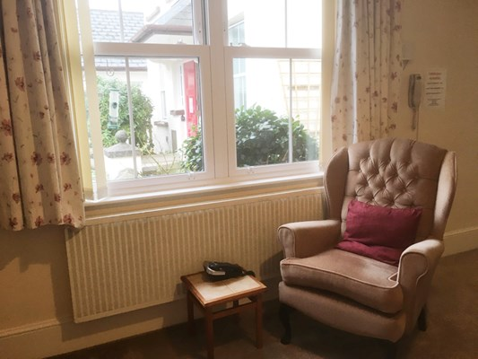 Armchair By The Window In Resident Room At Duffield Court