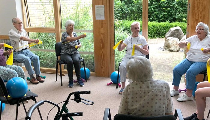 Keeping fit with seated exercise classes