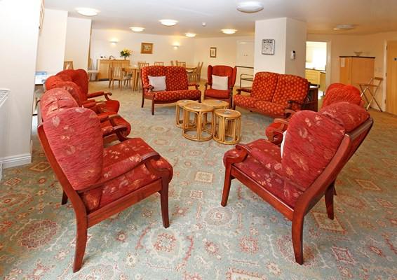 Spend time in our communal lounge
