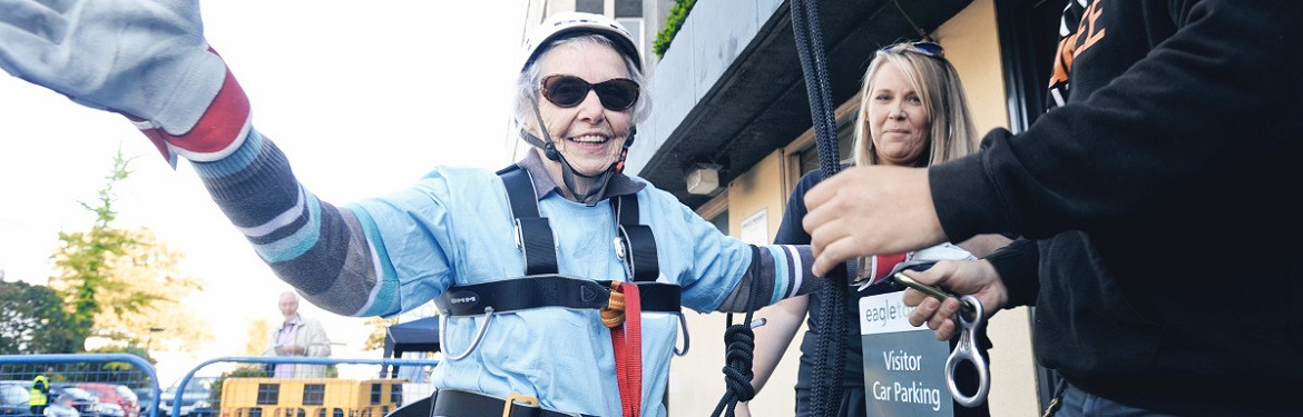 daredevil 90 year old takes on abseil challenge