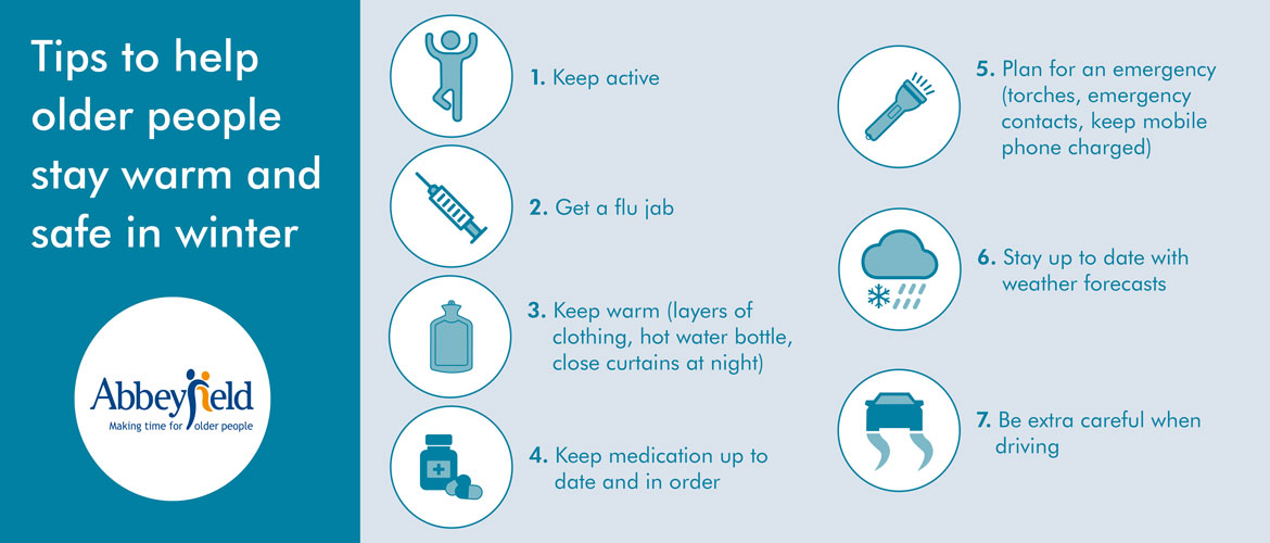 Tips to help older people stay warm and safe in winter