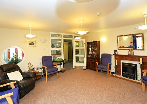 Lounge at Warburton and Clarisse Lodge where residents can spend time socialising