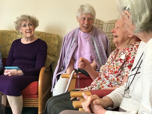 Laughter and fun with our residents