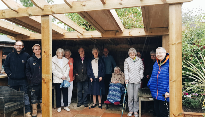How a community came together to open a new garden for care home residents