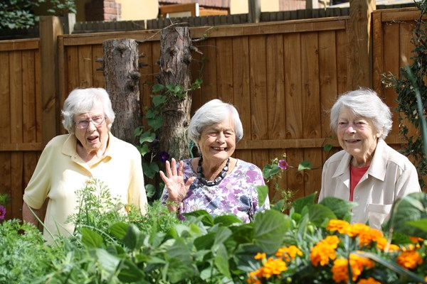 Smiles all round from our residents