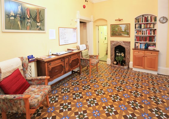 Original tiles in the house entrance hall