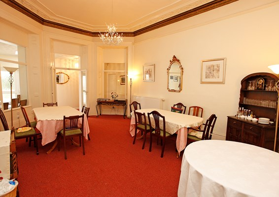 Enjoy delicious homemade meals in the dining room