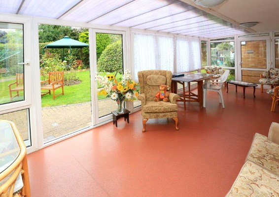 Communal conservatory at The Octagon where residents can enjoy socialising together