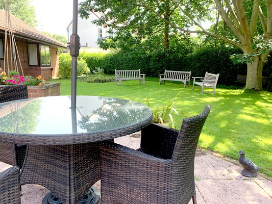 Our garden offers a beautiful outdoor space to enjoy whatever the weather