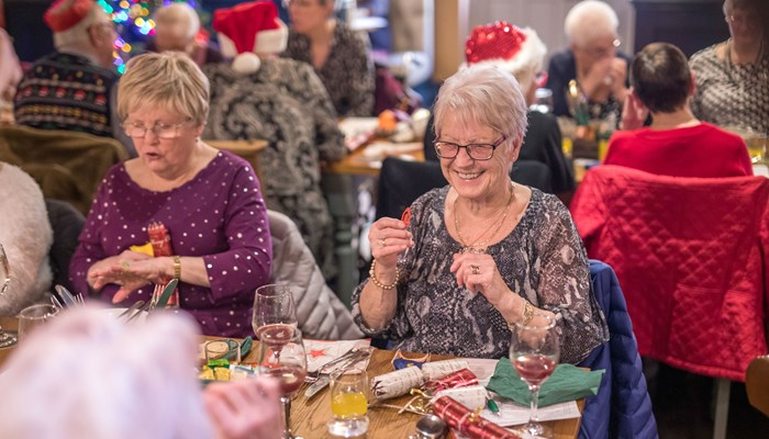 Christmas pub lunch for older people in Durham is a real cracker!