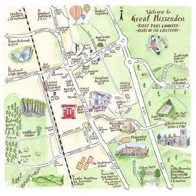Abbeyfield House, Great Missenden illustrated map