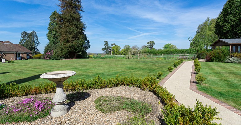 Beautifully landscaped large garden at Westall House