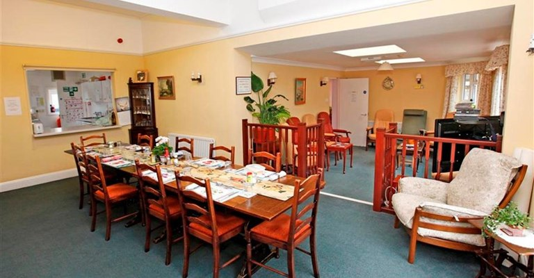 Communal dining room at Seascapes where residents enjoy spending meal times together