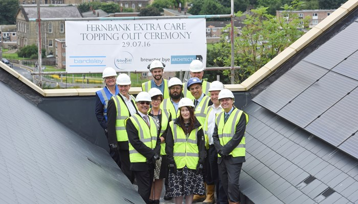 Topping out ceremony at new £10m care home in Bingley